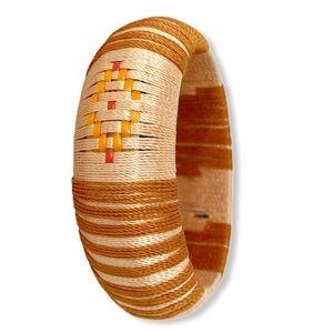 Boho Bracelet Natural Fiber Orange Handmade New